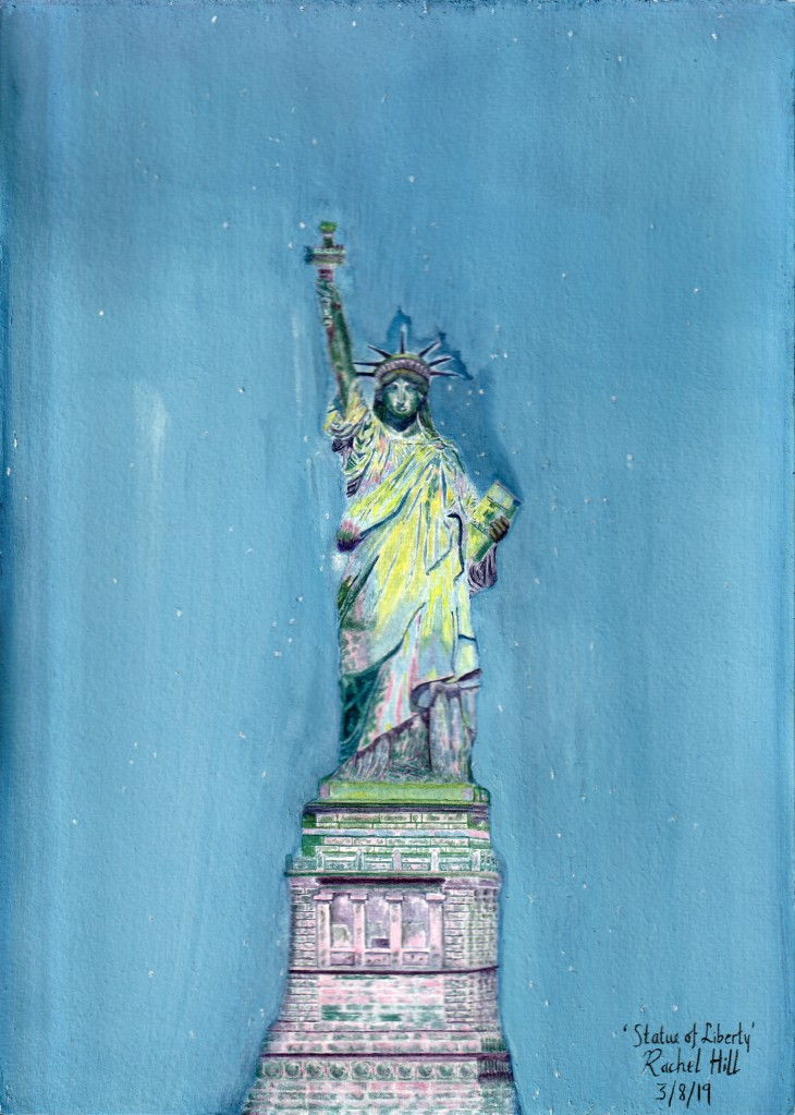 Painting of the Statue of Liberty by Irish Artist Rachel Hill