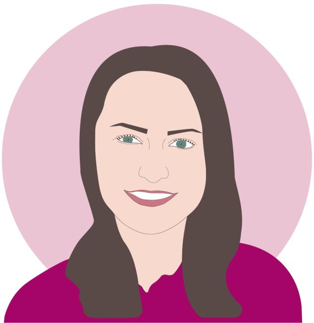 Vector graphic of Rachel Hill