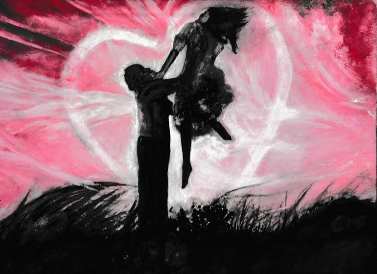 Uplifting Love acrylic painting